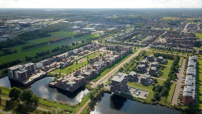 De Waalwijkse wijk Landgoed Driessen vanuit de lucht.