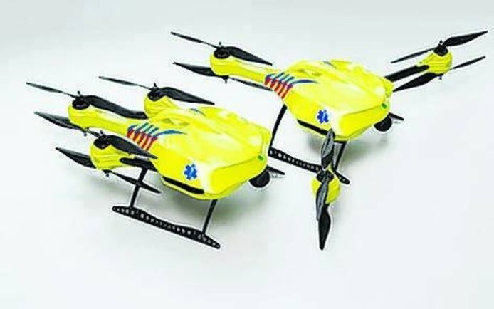 De ambulancedrone foto TU Delft