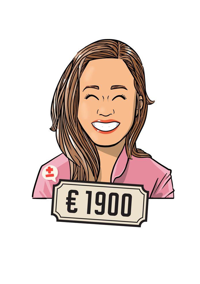 Vera Helm verdient gemiddeld 1.900 euro netto per maand.