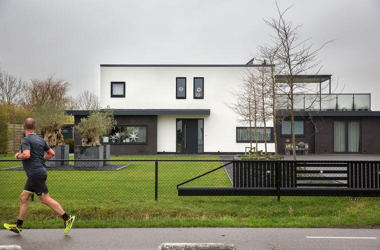 Een winnaar in Vrouwenpolder heeft een villa laten bouwen. Beeld arie kievit
