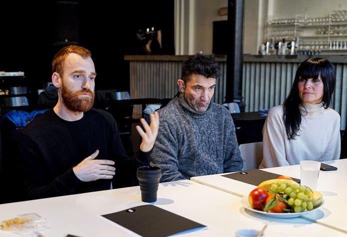 De gauche à droite: Rémy Venant (Vecteur), Michaël Sacchi (Rockerill), Nathalie De Lattre (Eden)