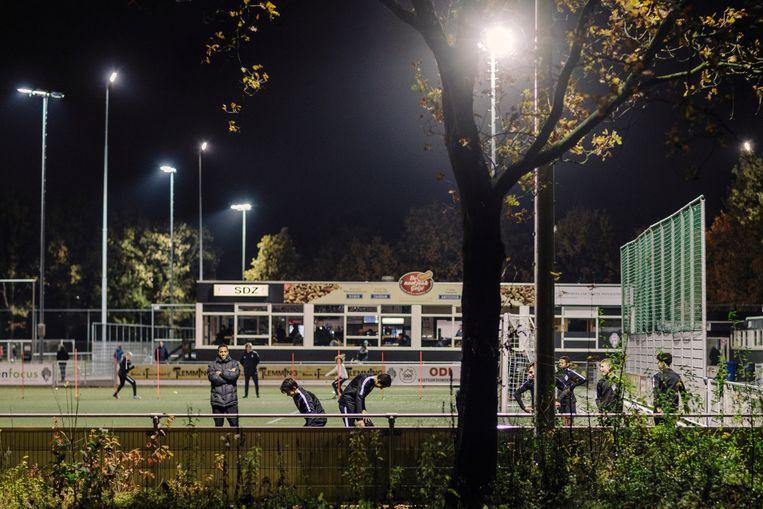 Het sportcomplex van SDZ aan de Transformatorweg. Beeld Marc Driessen