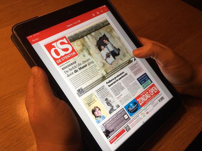 De Stentor lezen op je iPad.
