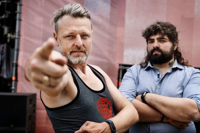 CirQ-organisatoren Xavier Cloet en David Miroir organiseren dit jaar 'Chataclan', de online editie van 'Bataclan'.  Beeld Eric de Mildt
