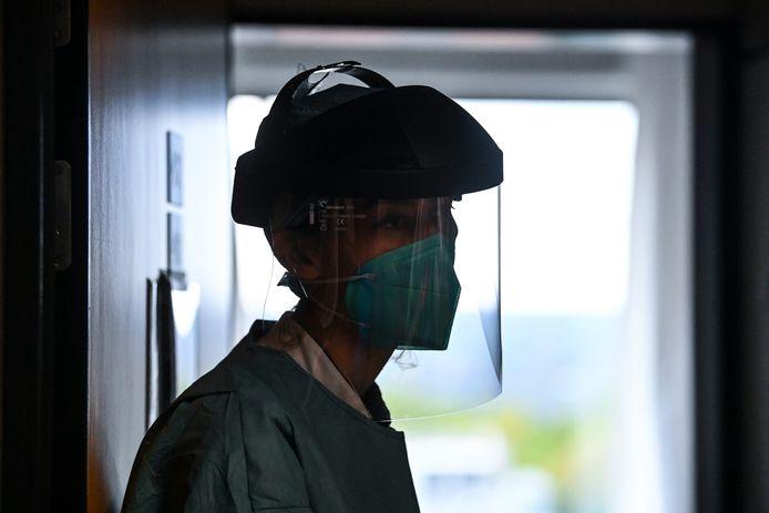 Zorgkundige in het CHR Citadelle-ziekenhuis in Luik.