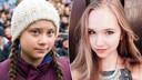 Greta Thunberg et Naomi Seibt.