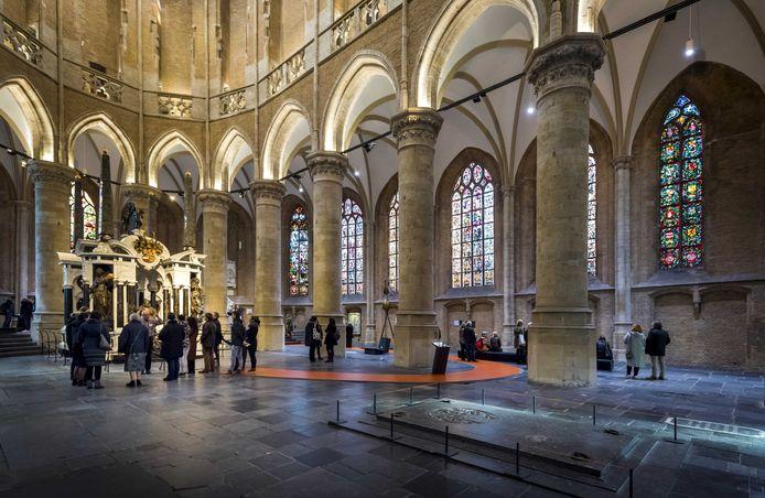 Archiefbeeld van het interieur van de Nieuwe Kerk van Delft.