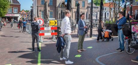 Harderwijkse binnenstad in coronatijd: nieuwe looproutes en geen fietsen
