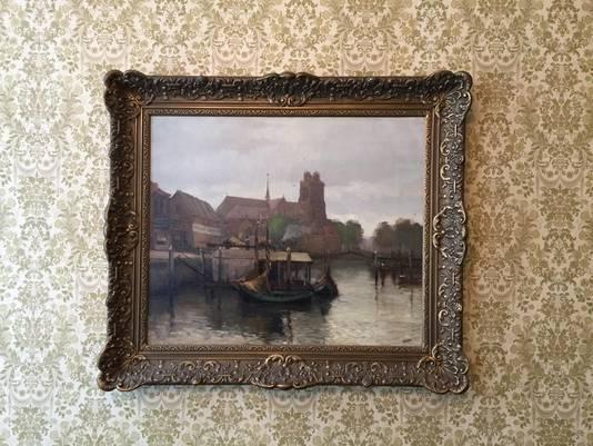 Het bewuste schilderij van Wim Jansen.
