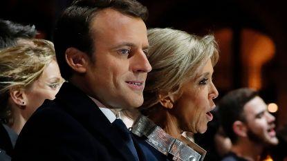 Aanhangers vieren overwinning Macron