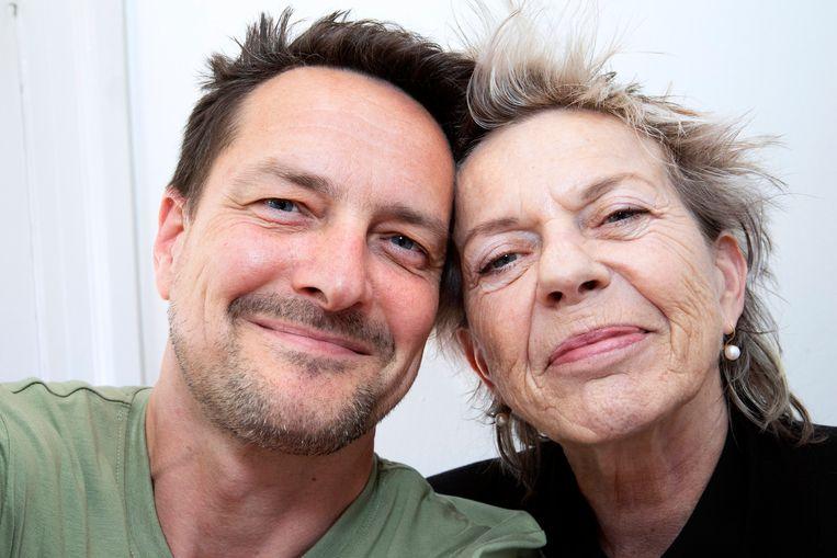 Selfie met Connie Palmen. 'Een mooi mens.' Beeld Martijn van de Griendt