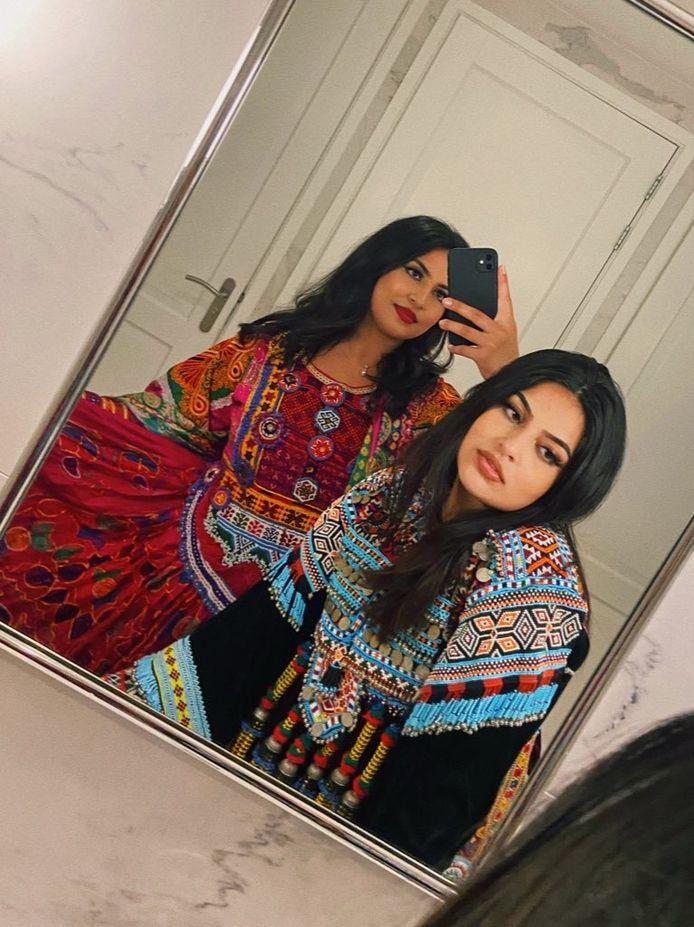 Lema en haar zus.