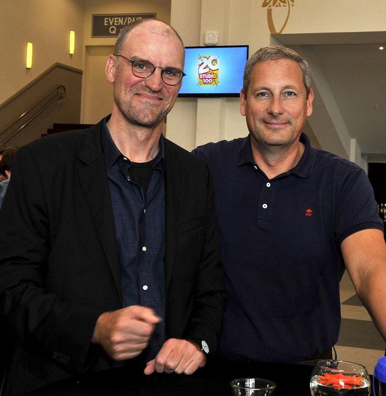Hans Bourlon en Gert Verhulst, de twee oprichters van Studio 100.