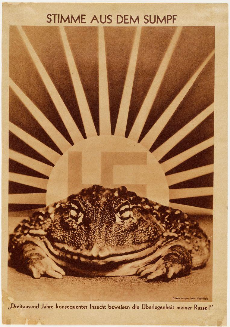 'Voice of the Swamp', John Heartfield. Beeld Arbeiter Illustrierte-Zeitung