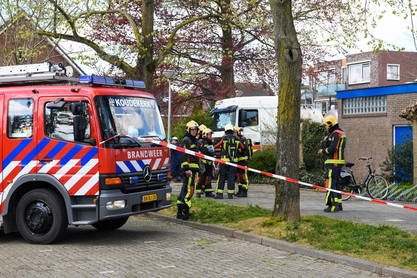 De brandweer is massaal uitgerukt.