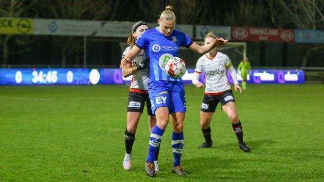 """Ella Van Kerkhoven (AA Gent Ladies) na hattrick: """"Leuk, maar mijn scherpte in de zestien moet nog beter"""""""