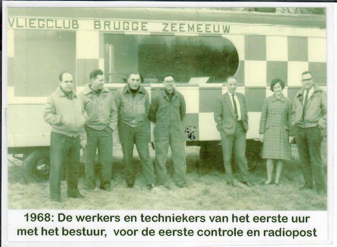 De eerste controle- en radiopost van eind jaren zestig was een oude woonwagen.