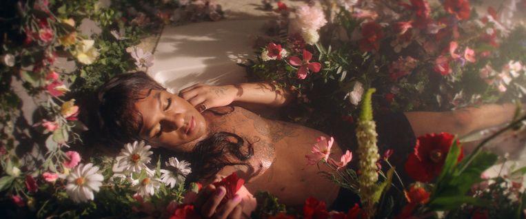 LGBT-icoon Mykki Blanco staat al jaren bekend als een van de opvallendste personages in de hiphopwereld. Beeld RV