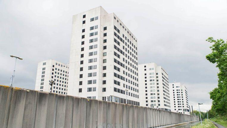 Onder meer in de voormalige Bijlmerbajes komen straks UvA-studenten te wonen Beeld Charlotte Odijk