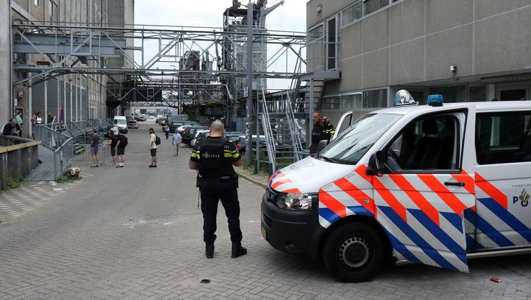 Politie in Rotterdam in verband met terrorismedreiging. Beeld anp