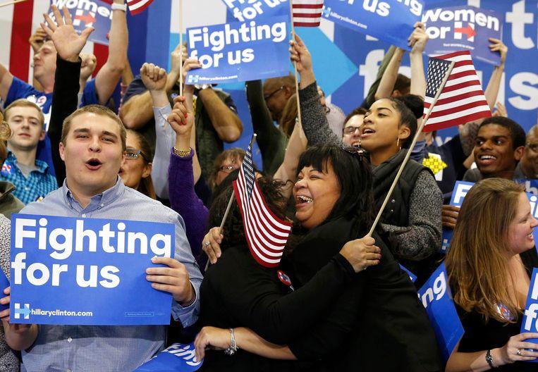 Supporters van Hillary Clinton. Beeld REUTERS