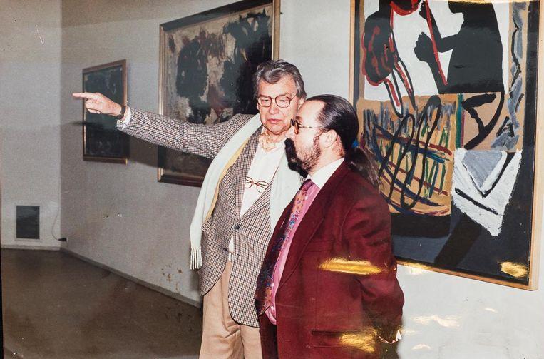 Met schilder Karel Appel Beeld Mats van Soolingen