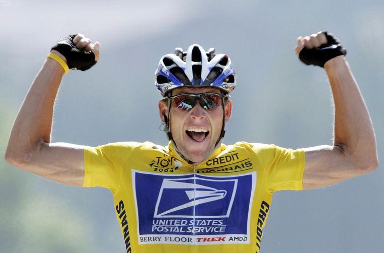 Lance Armstrong tijdens de Tour de France in 2004. Beeld REUTERS