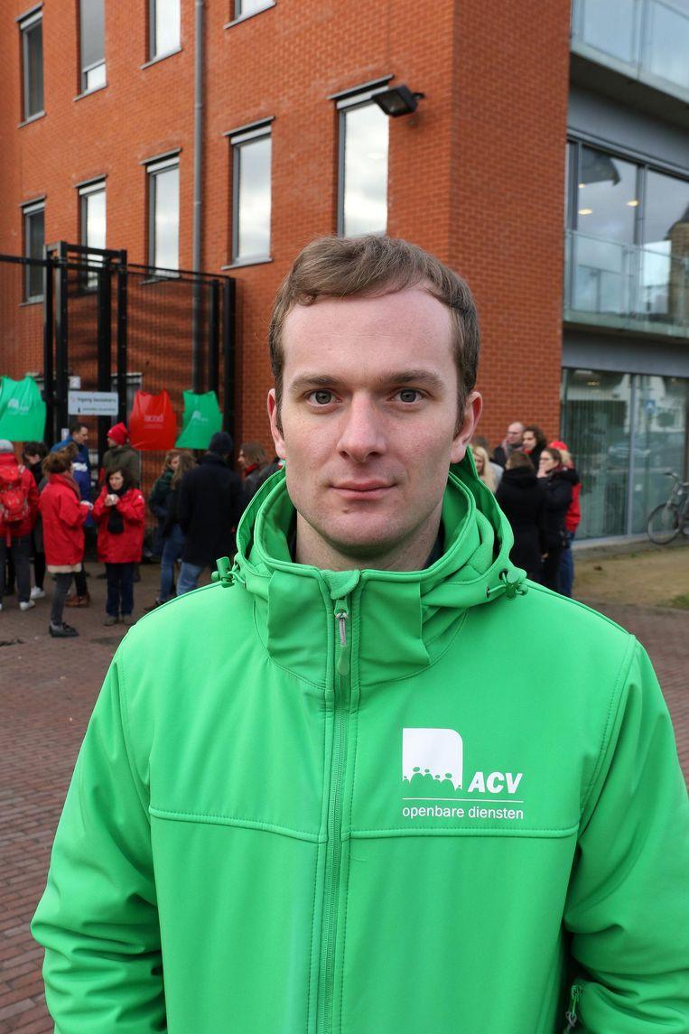Vakbondsafgevaardigde Tijl Reusen (ACV).