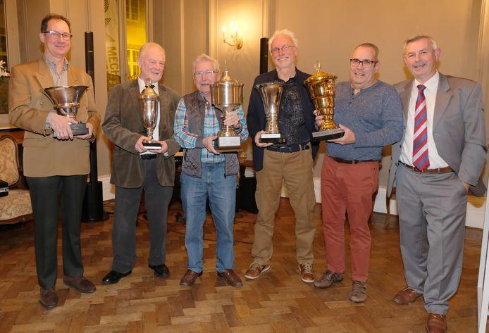 Carl Moeremans, Francois Wouters, Herman Bonnyns, Ronny Depesseroy en Guido De Koninck