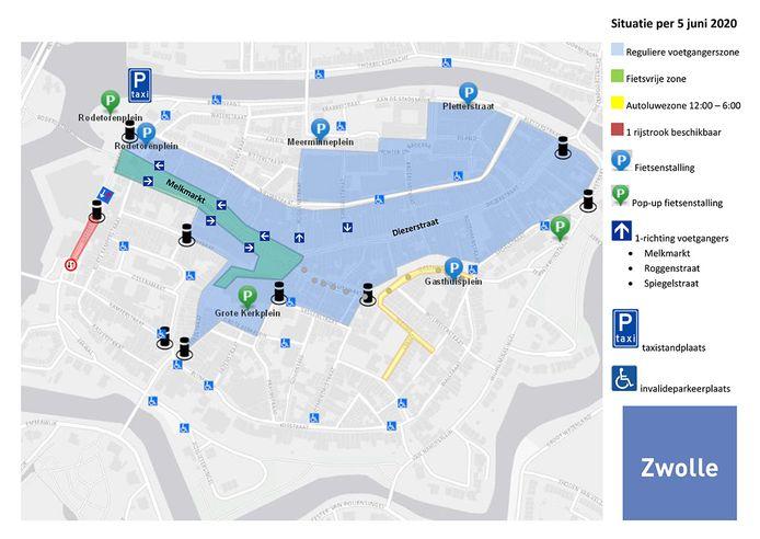 Aangepaste maatregelen voor de binnenstad van Zwolle in verband met het coronavirus.