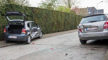 Vier auto's botsen: één bestuurder gewond