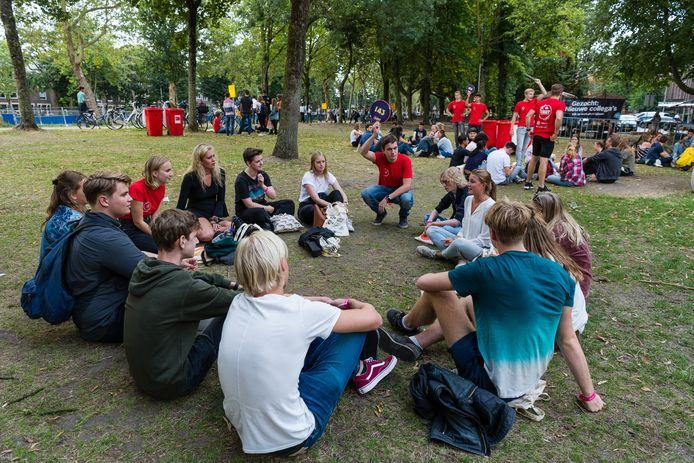 Vorig jaar konden de eerstejaars studenten uit alle windstreken samenkomen in de Utrechtse parken.
