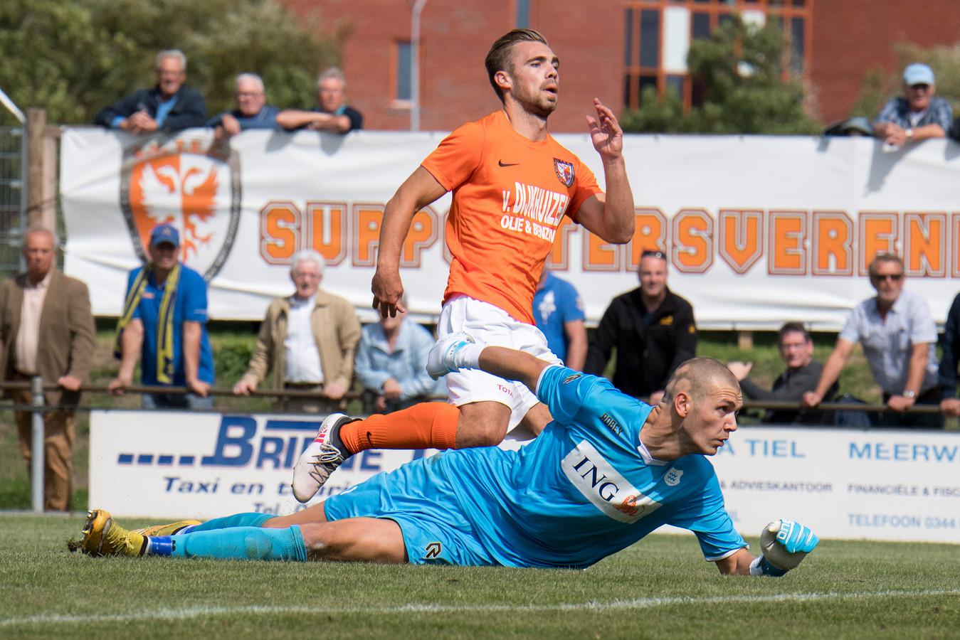 Wimilio Vink nam vorige week de eerste Tielse treffer van het seizoen voor zijn rekening in de wedstrijd tegen Dongen (3-1).