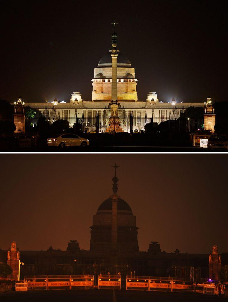 Het Rashtrapati Bhavan (Presidentieel Paleis), de residentie van de President van India. Beeld ap