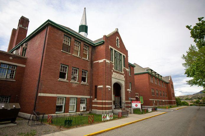 De voormalige Kamloops Indian Residential School.