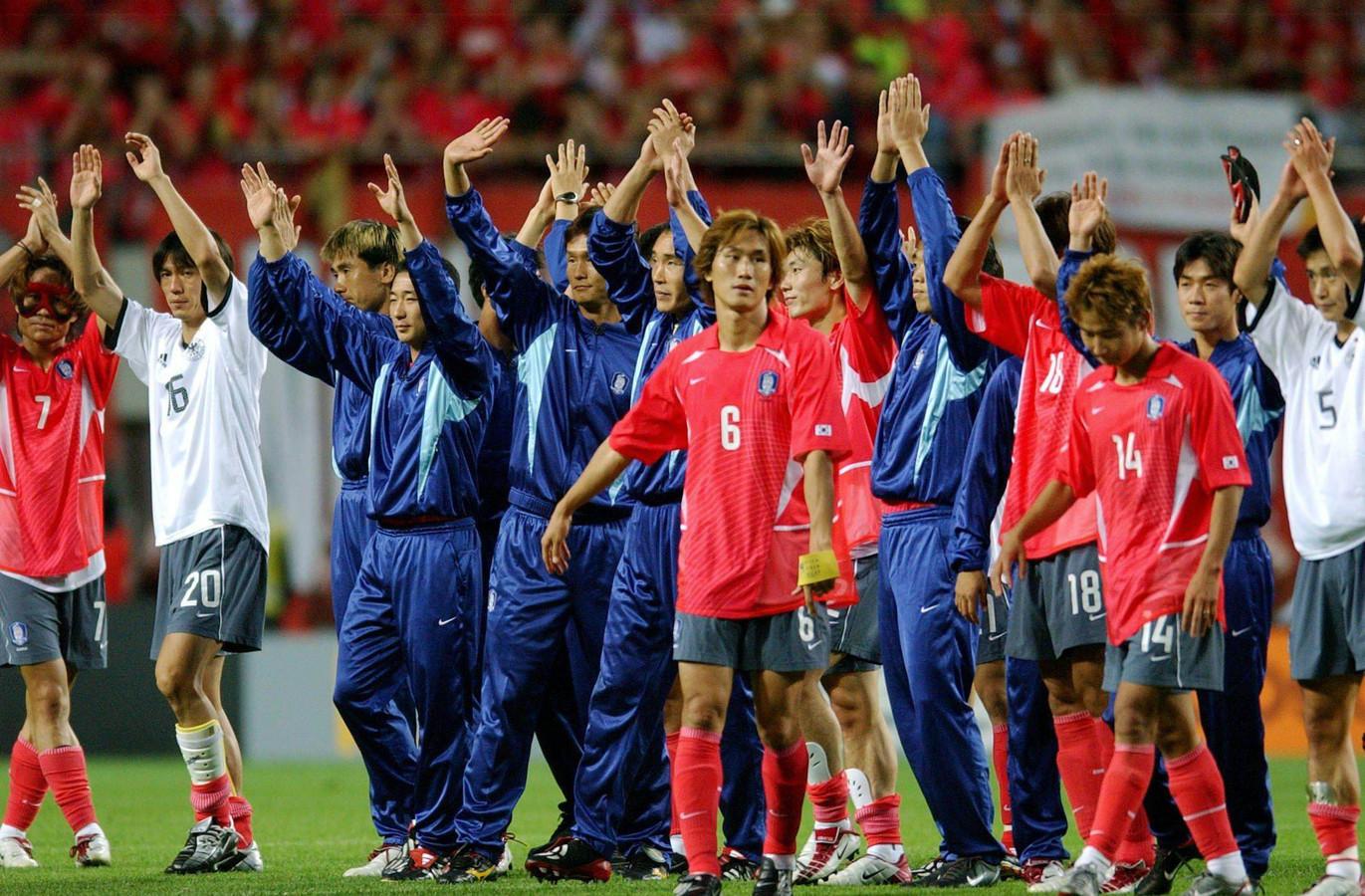 Yoo Sang-chul (6) na de halve finale tegen Duitsland (0-1) op het WK van 2002.