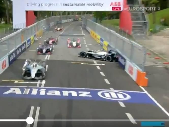 Klap voor Stoffel Vandoorne: vanop pole gestart, maar race eindigt in de muur