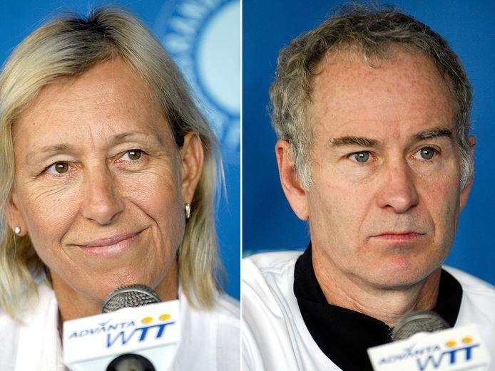 Martina Navratilova en John McEnroe.
