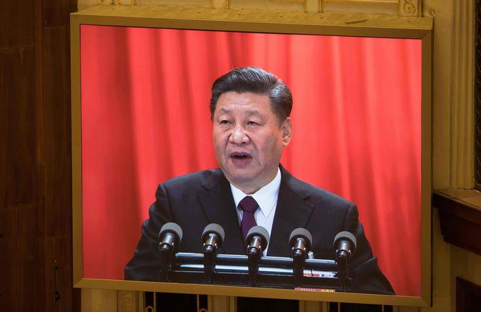 """""""Geen centimeter land kan China afgeven"""", zei Xi Jinping nog tijdens zijn toespraak."""