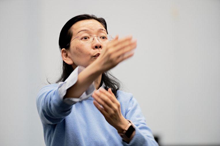 De vertrekkende koordirigent Ching-Lien Wu. Beeld Milagro Elstak