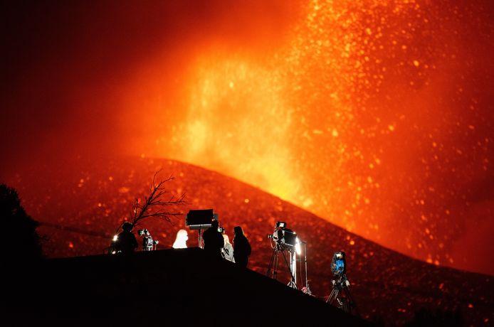 De vulkaan Cumbre Vieja