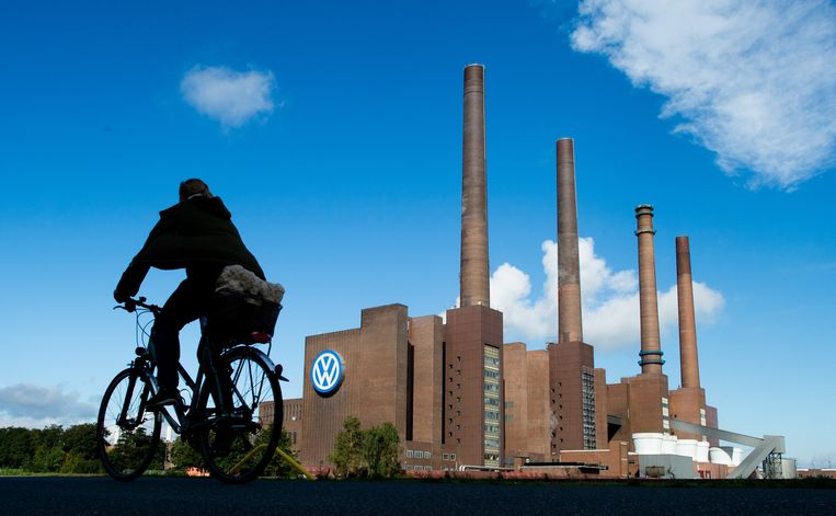 De Volkswagenfabriek in het Duitse Wolfsburg. Beeld EPA