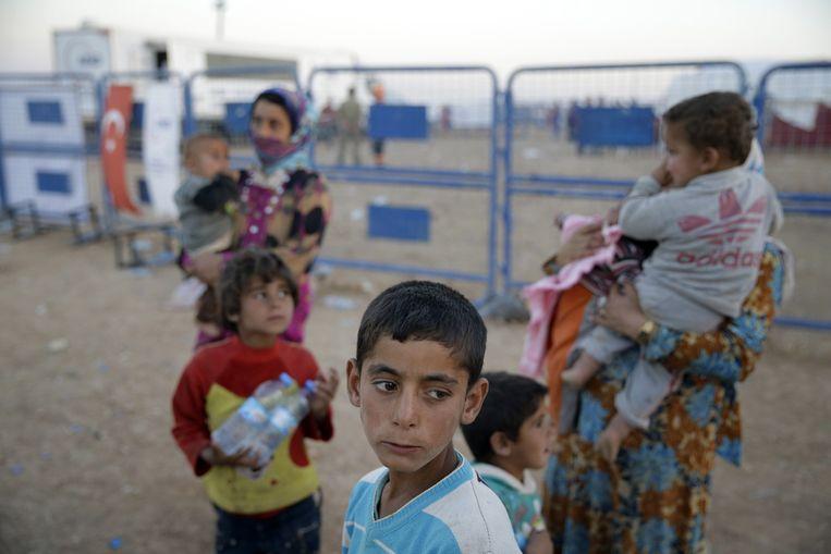 Syrisch-Koerdische vluchtelingen in Turkije. Beeld ap