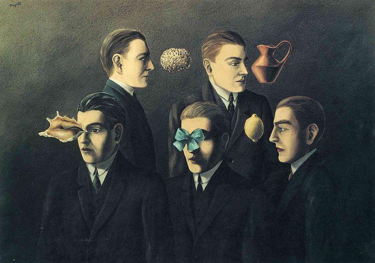 'Les objets familiers' uit 1928 van René Magritte (1898-1967) Beeld Magritte
