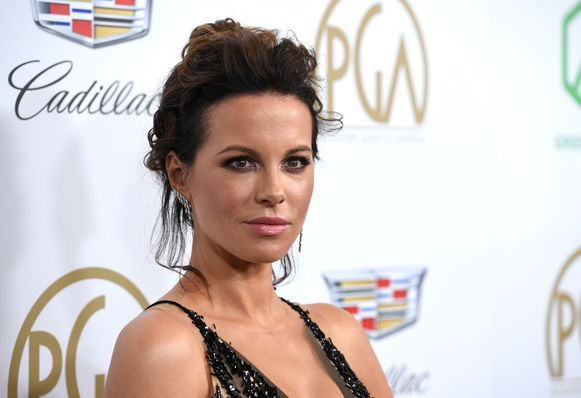 Kate Beckinsale op de Producers Guild Awards op zaterdag 19 januari.(Photo by Chris Pizzello/Invision/AP)
