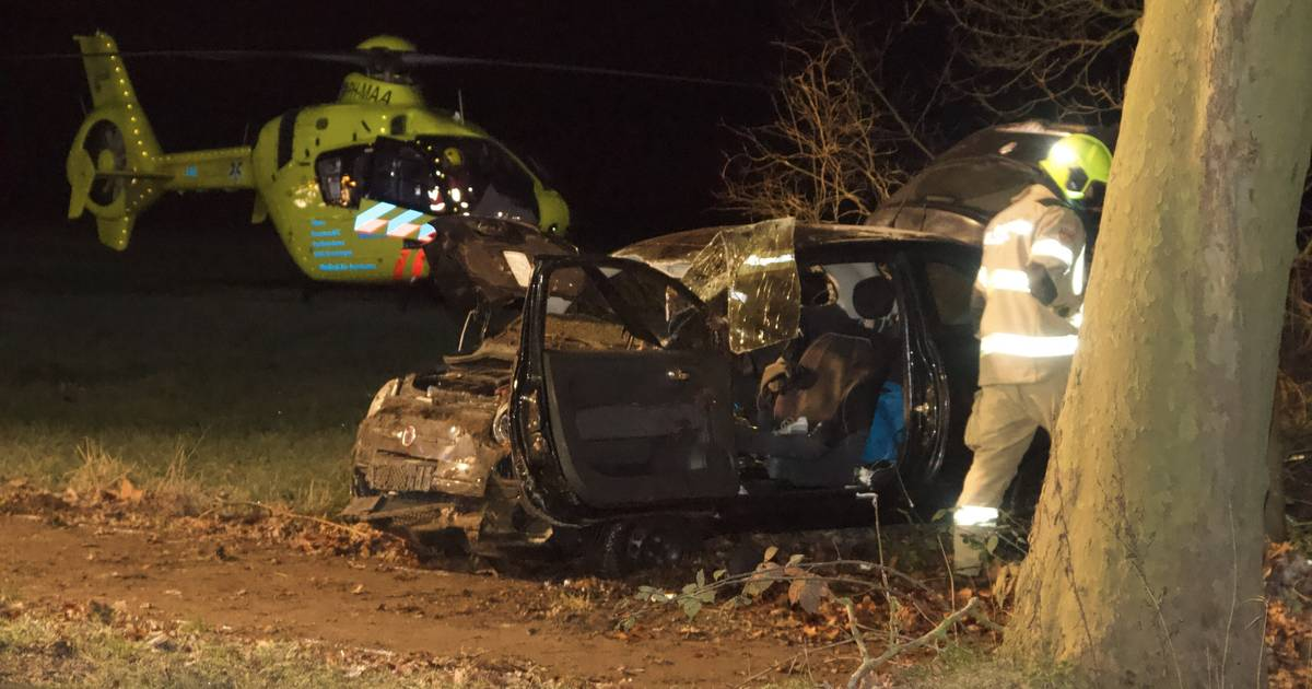 Bestuurder gewond na heftig ongeluk bij Nijkerk.
