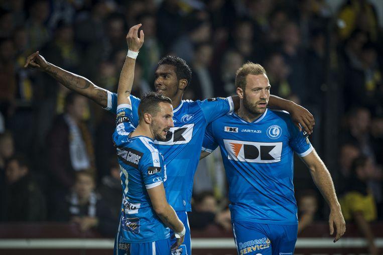 Milicevic (links) en Depoitre (rechts) kunnen normaal gezien spelen tegen Lyon