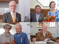 Vier Wageningse mannen koninklijk onderscheiden