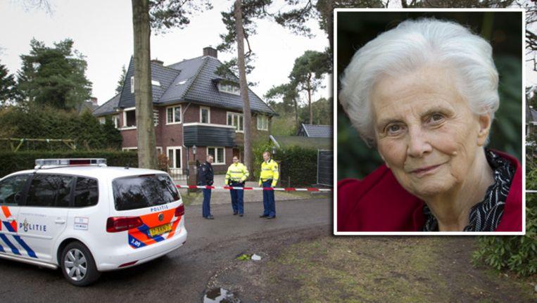 Politie in februari bij de woning van Els Borst aan de Ruysdaellaan Beeld Archieffoto ANP