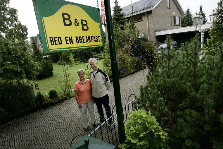 De bed & breakfast van Hans en Aleida Greup in Amerongen. Beeld anp